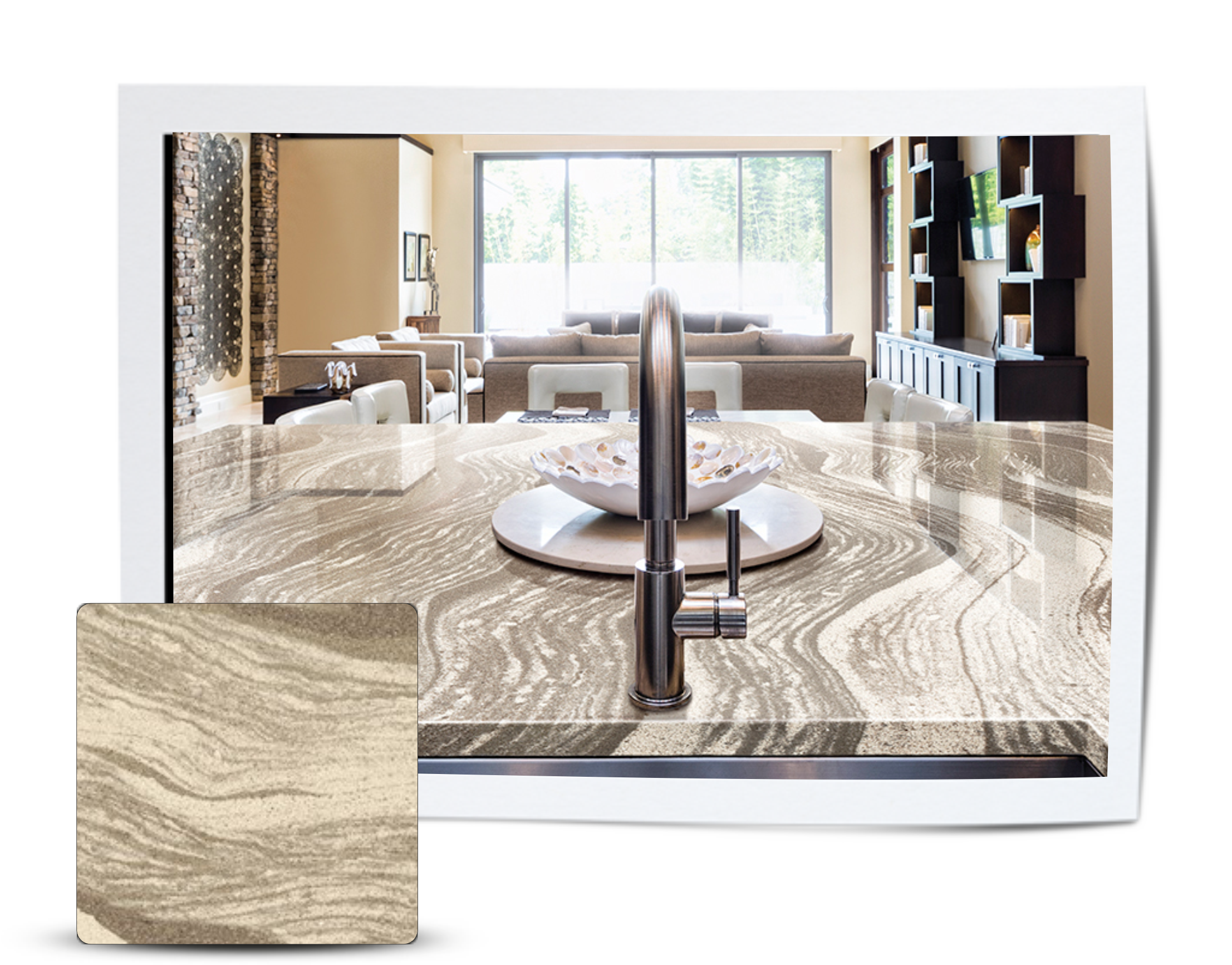 Progressive Countertop Feature Stone for February: Oakmoor by Cambria