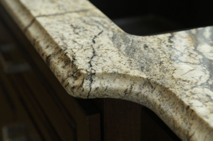 This Silver Supreme Granite counter top features an Ogee edge profile, adding to it's design elements