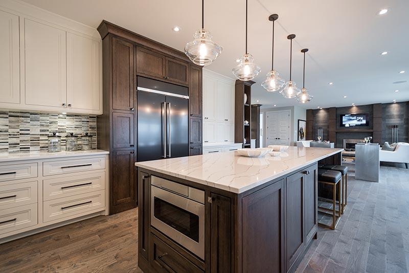 Dream Home 2015 London On   Ella Cambria quartz  from Progressive Countertop on large kitchen island