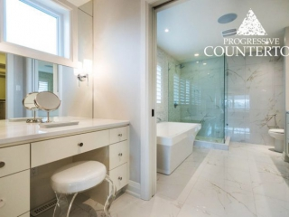 Whitehall quartz countertop by Cambria in the 2015 Dream Home Lottery Home