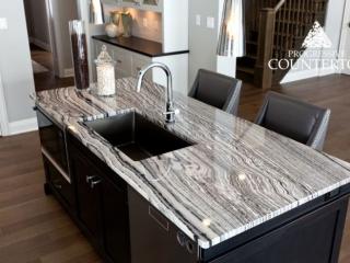 Maui Granite Kitchen Countertop Grey