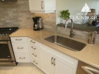 Caesarstone Shitake Quartz Kitchen Countertop Tan
