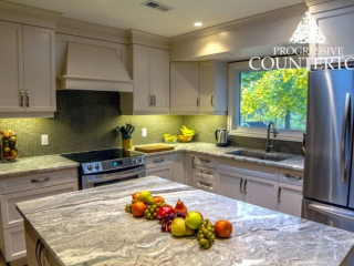 Fantasy Brown Quartzite Kitchen Counterop Grey