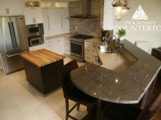 Cygnus Granite Kitchen Countertop Grey