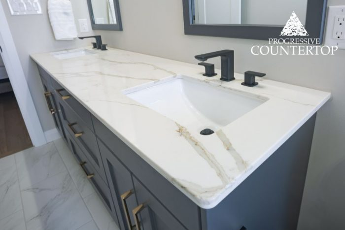 Zodiac Calacatta Natura Bathroom Vanity Countertop