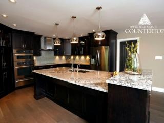 Lennon Granite Kitchen Countertop Brown and White